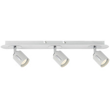 White Burton 3 Light Metal Spotlight