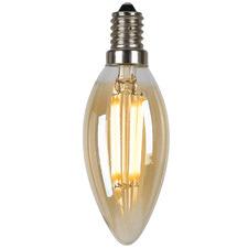 Amber E14 Candle Filament Bulb