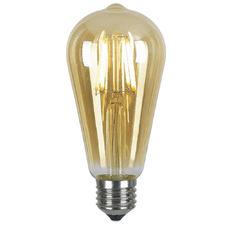 Amber E27 Pilot LED Filament Bulb