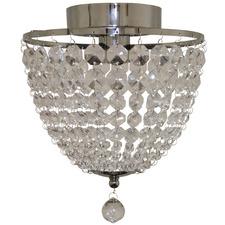 Clear Grace Batten Fix Ceiling Light