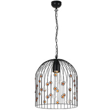 Hummingbird 1 Light Metal Pendant