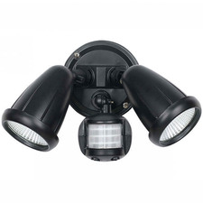 Illume Twin Metal Outdoor Spotlight with Sensor