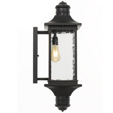 Black Leeds Metal Outdoor Coach Light