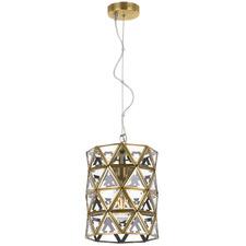 Lewis Brass Glass Pendant Light