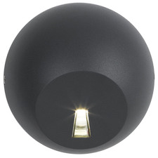 Black Lexi Round LED Step Light