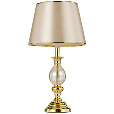Lisa Metal & Glass Table Lamp