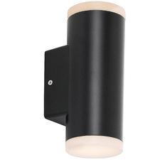 Black LED Ludek Outdoor Wall Lamp