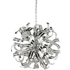 Chrome Merino 5 Light Pendant
