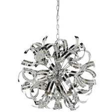 Chrome Merino 8 Light Pendant