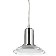 Chrome Noni Metal Glass Pendant Light