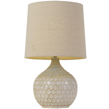 Beige Pamela Ceramic Table Lamp