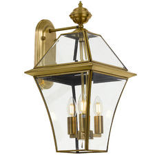 Brass Rye 3 Light Metal Wall Light