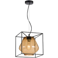 Sempre Metal & Glass Pendant Light