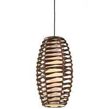Small Brown Tribe Rattan Pendant Light