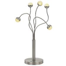 Oko 5 Light Aluminium Table Lamp
