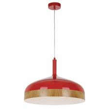 Red Bresno Metal Pendant Light