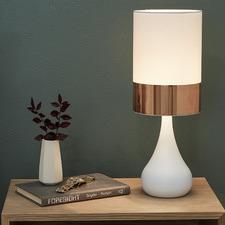 Copper Band Nalada Ceramic Table Lamp