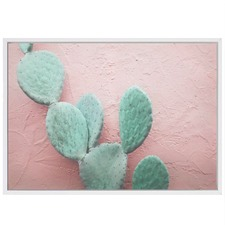 Blush Cactus Canvas Wall Art