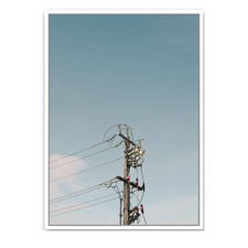 Powerlines Framed Canvas Wall Art