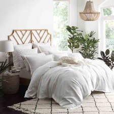 White Hampton Cotton Quilt Cover Set