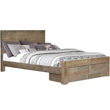 Melanie Pine Wood Bed with Drawers
