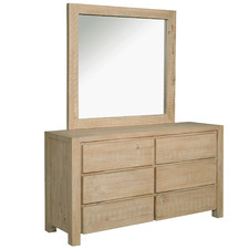 Arlie Pine Wood Dresser & Mirror