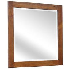 Walnut Melliodas Pine Wood Dressing Table Mirror