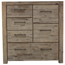 Natural Gowther  6 Drawer Acacia Wood Tallboy