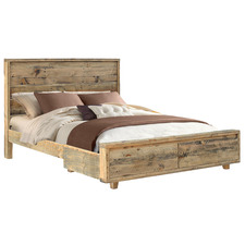Rayhaan Reclaimed Wood Bed with Drawers