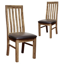 Caspian Acacia Wood Dining Chairs (Set of 2)