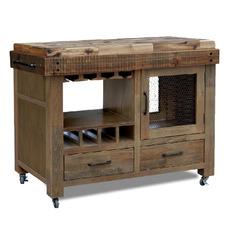 Soho Pine Kitchen Cart