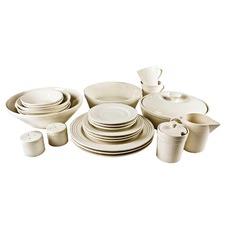 45 Piece Round Porcelain Dinner Set