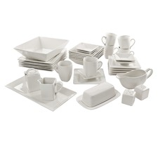 40 Piece Square Porcelain Dinner Set