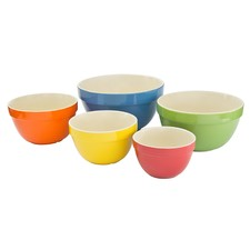 5 Piece Harlequin Bowl Set