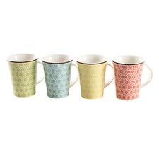 Set of 4 Floral Mugs