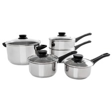 5 Piece Basics Stainless Steel Cookware Set