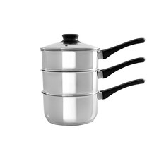 3 Piece Stainless Steel Steamer Set