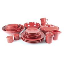 45 Piece Complete Round Porcelain Dinner Set