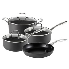 4 Piece Hard Anodised Cookware Set