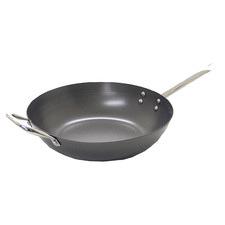 Grey 30cm Non-Stick Carbon Steel Wok
