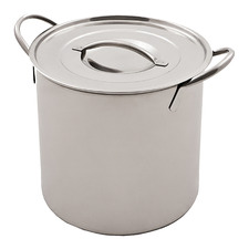 Silver 7.5L Stainless Steel Stock Pot