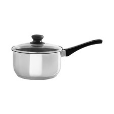 Basics Silver 16cm Stainless Steel Saucepan