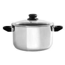 Basics Silver 24cm Stainless Steel Saucepan