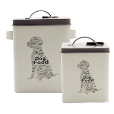 2 Piece Pet Corner Dog Food Storage Tin Set