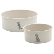 2 Piece Steel Dog Bowl Set