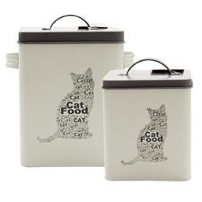 2 Piece Pet Corner Cat Food Storage Tin Set
