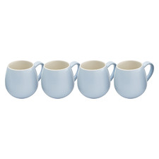 Light Blue Hug 380ml Mugs (Set of 4)