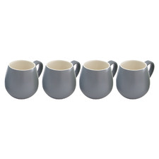 Dark Grey Hug 380ml Mugs (Set of 4)