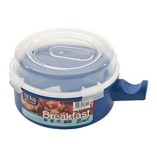 Blue Premium 16cm Breakfast Bowl with Lid
