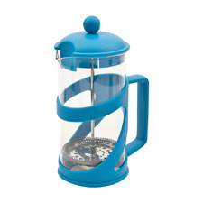 Light Blue 1L Glass & Stainless Steel French Press